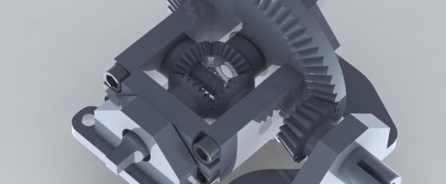 Electric car main drive CAD