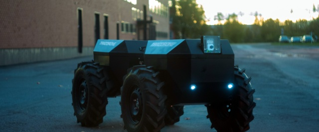 Unmanned tractor first prototype